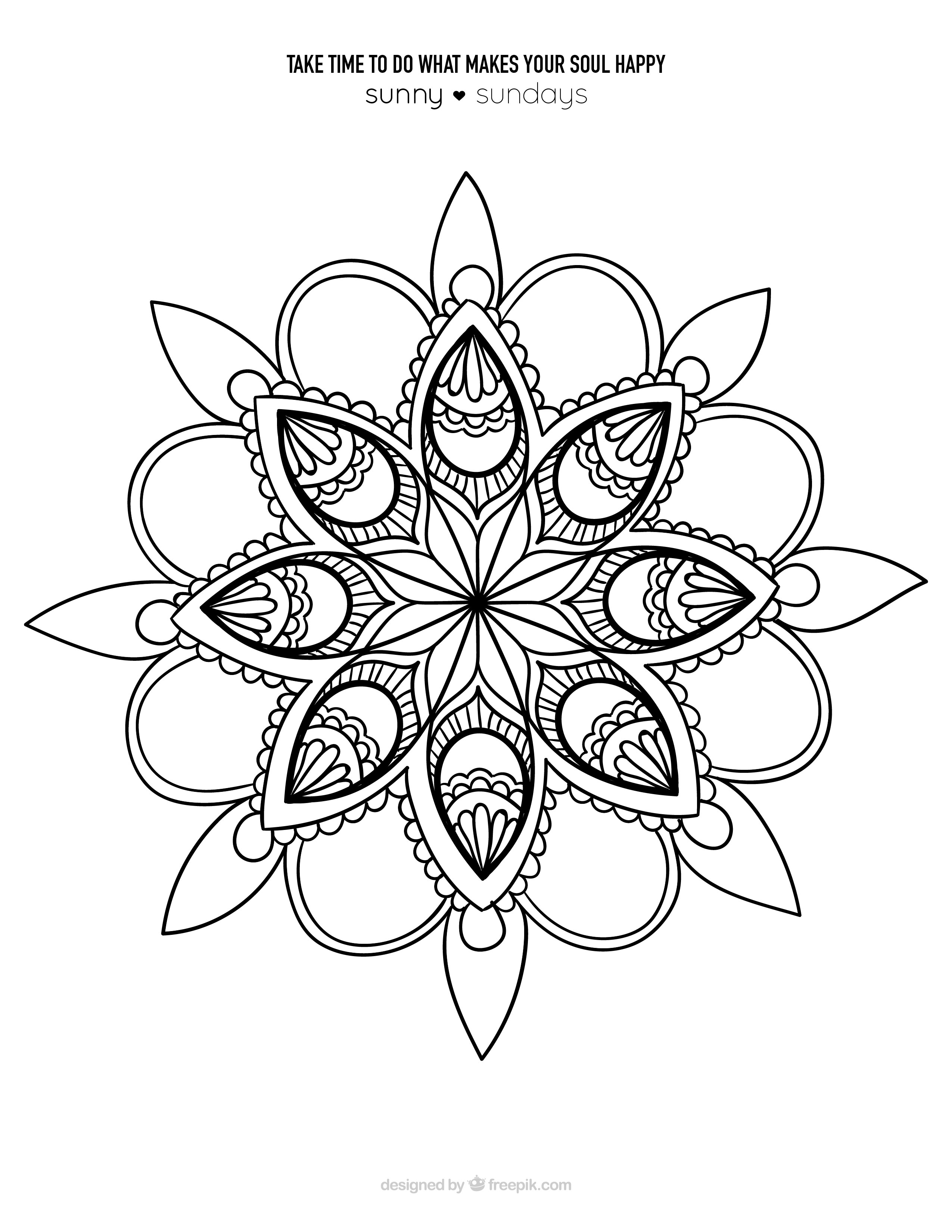 Mandalas terapia para el alma sunny sundays for Disenos de mandalas